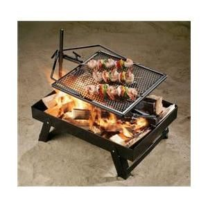 Adjust-A-Grill 13571 Campfire To Go - Fire Pan Combo Contained Campfire and Cooking System