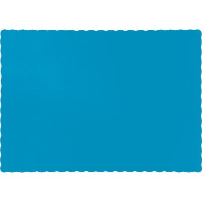 Touch Of Color Turquoise Blue Solid Color 4 Ply Place Mats 863131b Blue Placemats Coloring Placemats Green Placemats