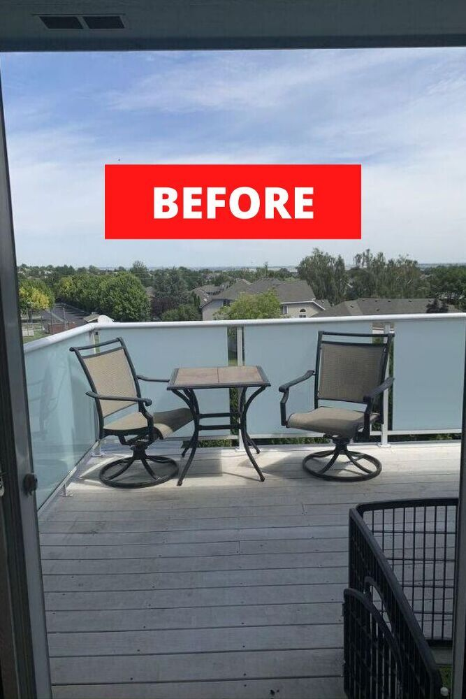 Are you looking for ideas on how to make over your patio for cheap? check out these great before and after easy patio update ideas for your porch or backyard deck. #hometalk