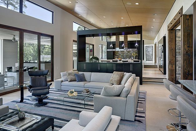 Domiteaux Baggett Architects Bonita Contemporary Kitchen Decor Indoor Outdoor Living Contemporary Living Room