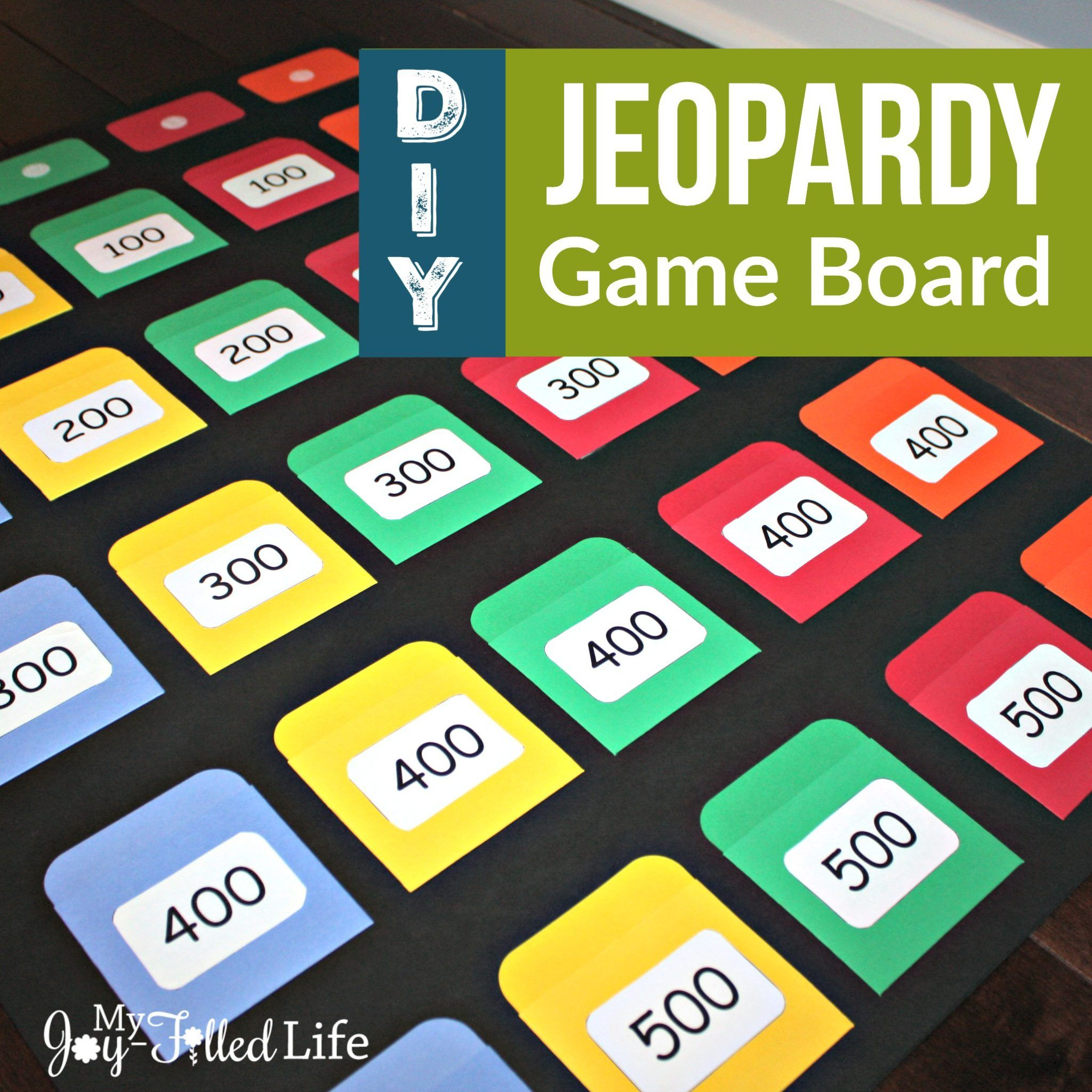 Diy Jeopardy Game Board Jeopardy Game Board Games Diy Board Games