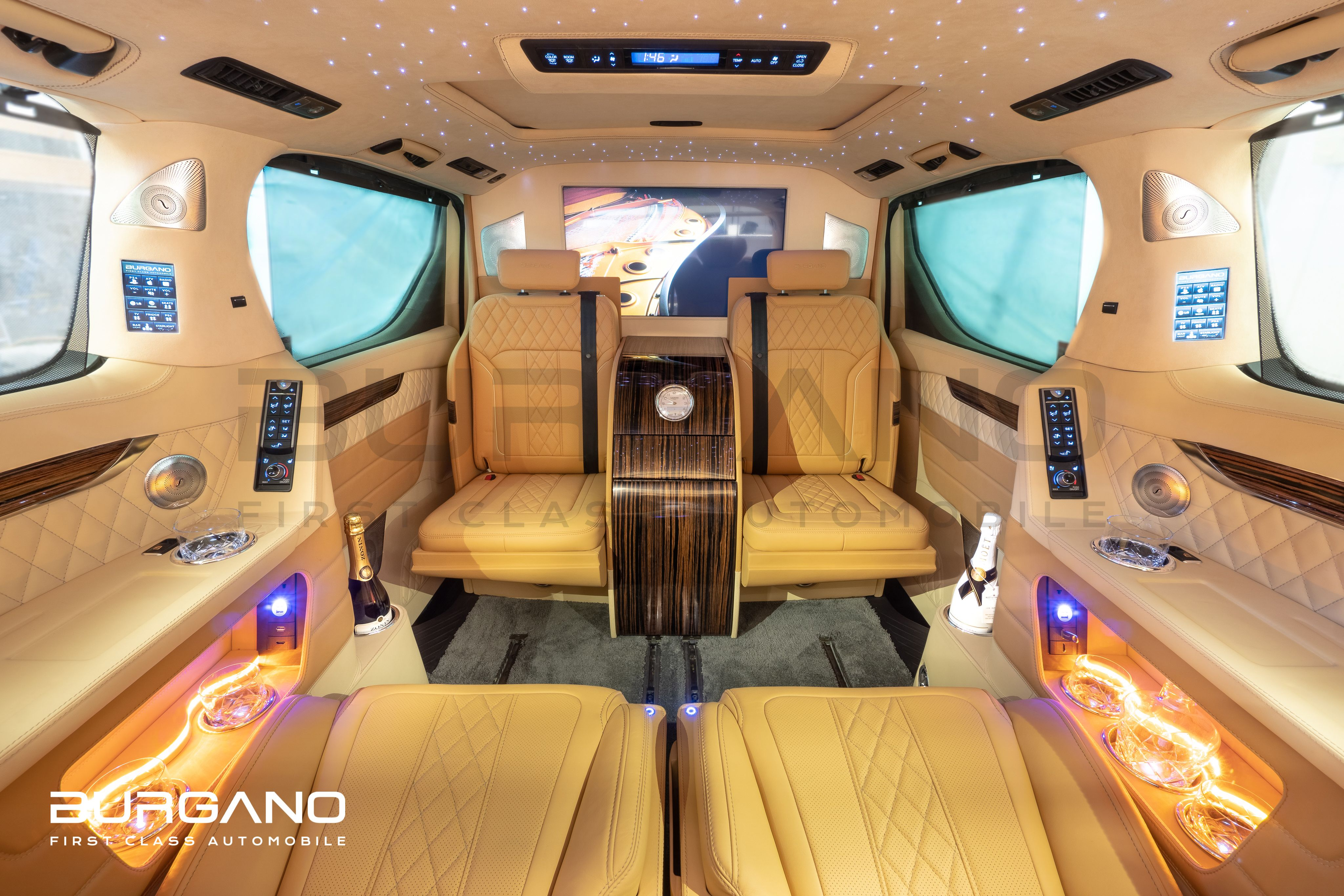 New Exclusive Toyota Alphard First Class Lounge By Burgano Exclusive Bentley Nappa Leather Upholstery Precious Toyota Alphard Toyota Mercedes Benz Viano