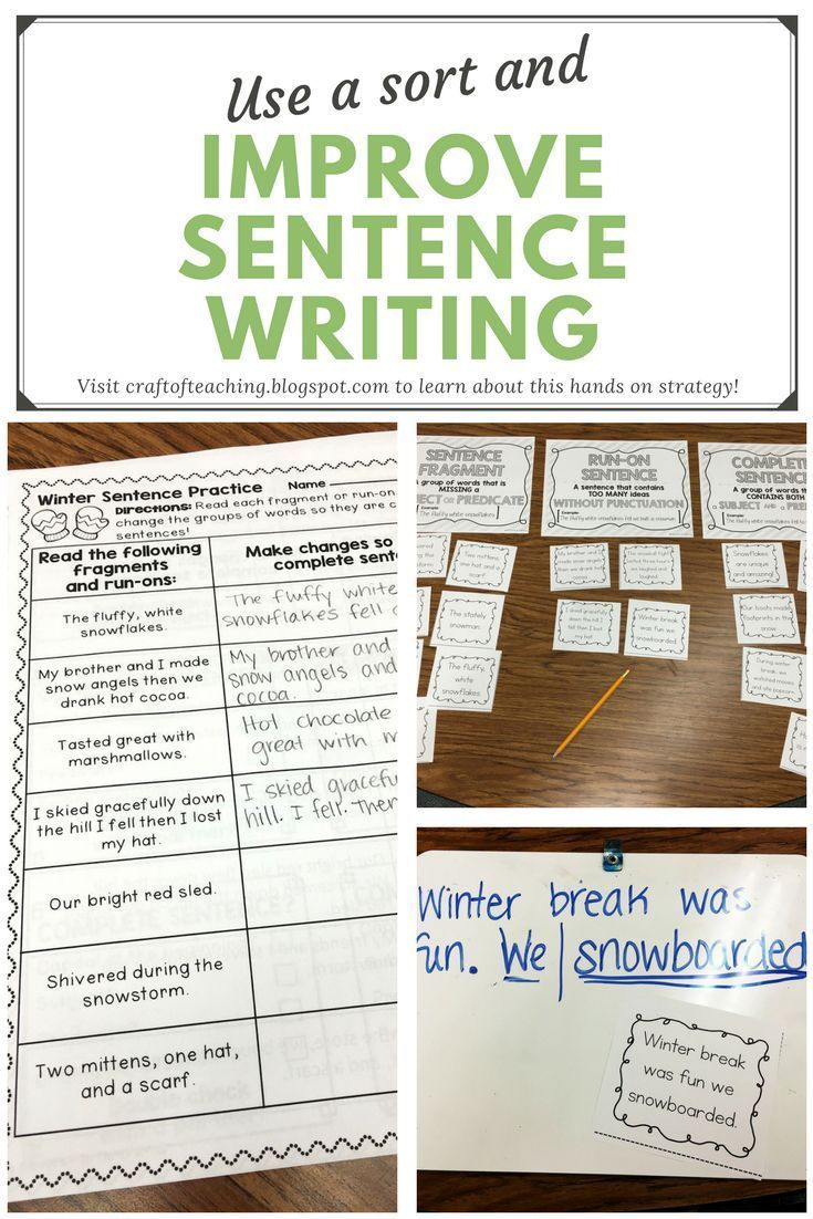 Using Sorts to Improve Sentence Writing