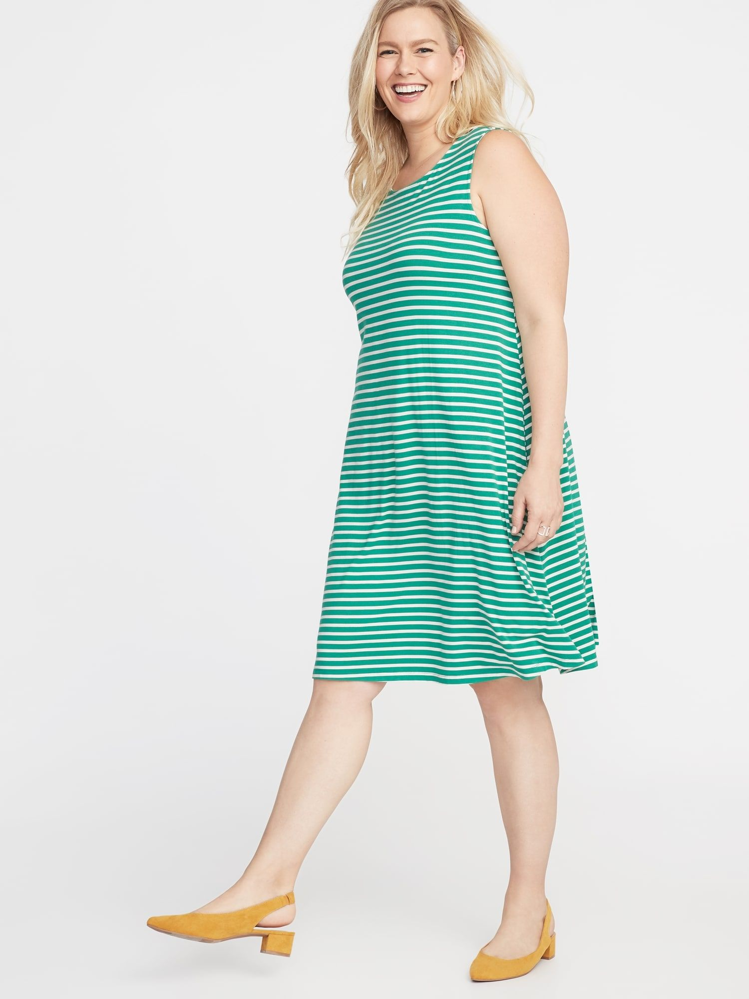 Sleeveless Plus-Size Jersey Swing Dress in 2019 | Old Navy Style ...