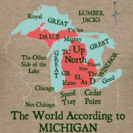 Geography according to Michiganders   More Fun In The Mitten ...