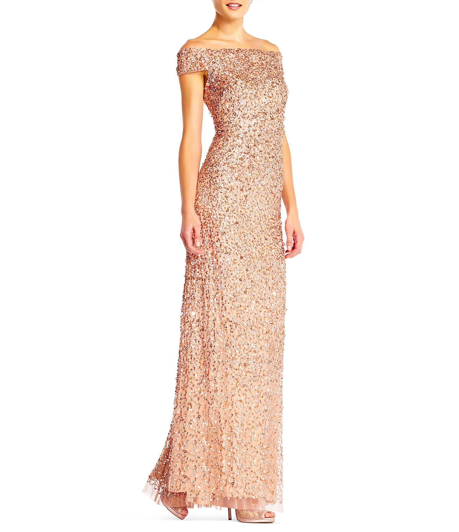 d2bfac7bcd8 Shop for Adrianna Papell Off-The-Shoulder Beaded Gown at Dillards.com. Visit  Dillards.com to find clothing