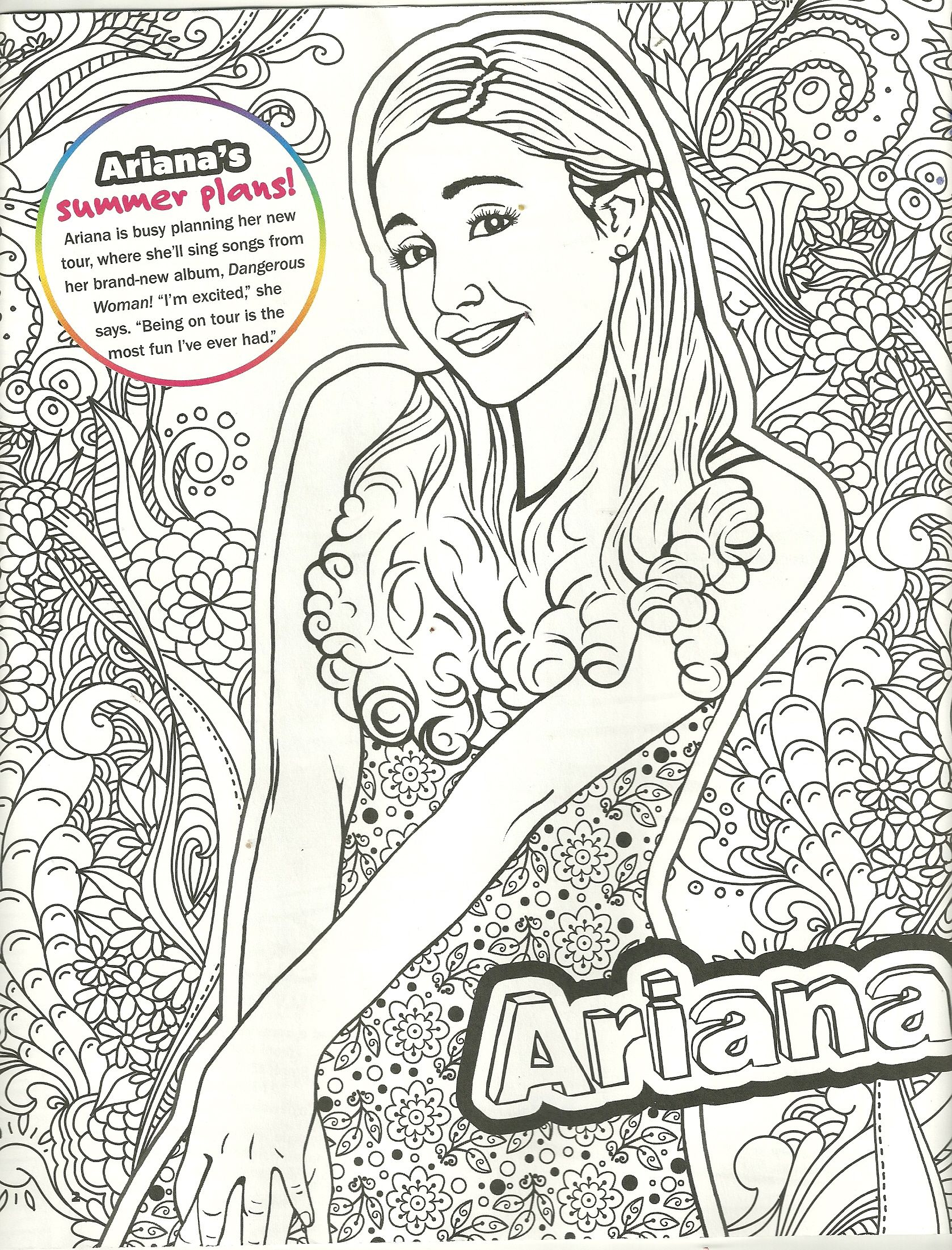 ariana grande coloring page my coloring pages Pinterest