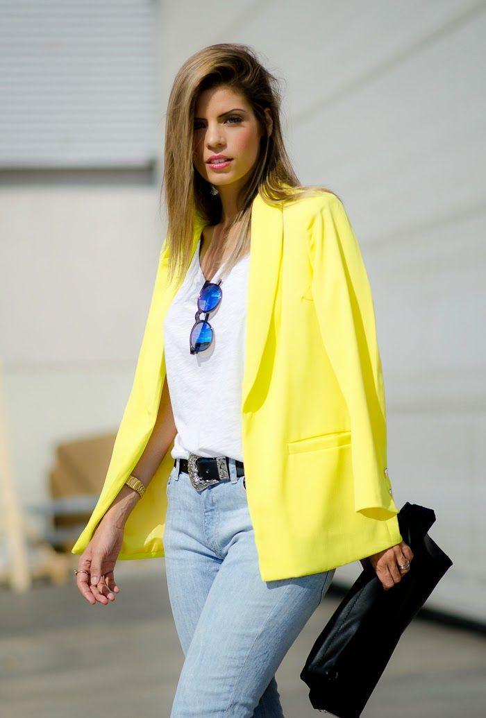 Ms Treinta - Fashion blogger - Blog de moda y tendencias by Alba.: Yellow Blazer