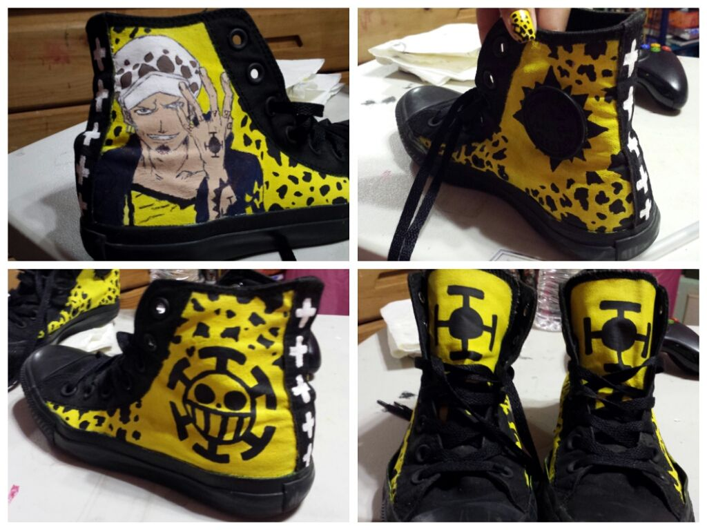 Traguy Converse One piece, Painted shoes, Custom sneakers