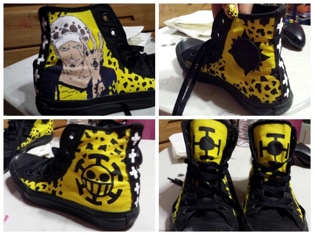 Custom one piece trafalgar law shoes by chibimizukichan