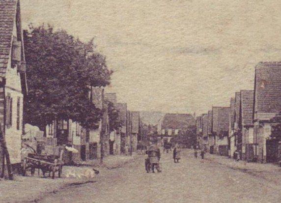 La rue de la gare à Mertzwiller