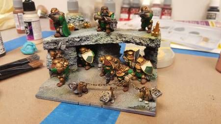 Mantic Kings of War multibasing - diorama following 60