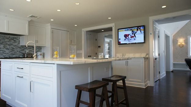 Cari S New White Kitchen With Marble Countertops Kitchens
