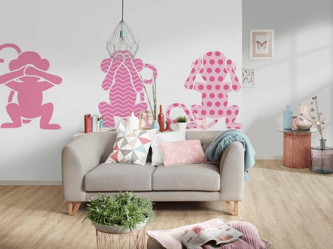 Fototapete Babyzimmer ~ Hol dir die pinken affen auf deine wand fototapete « affen