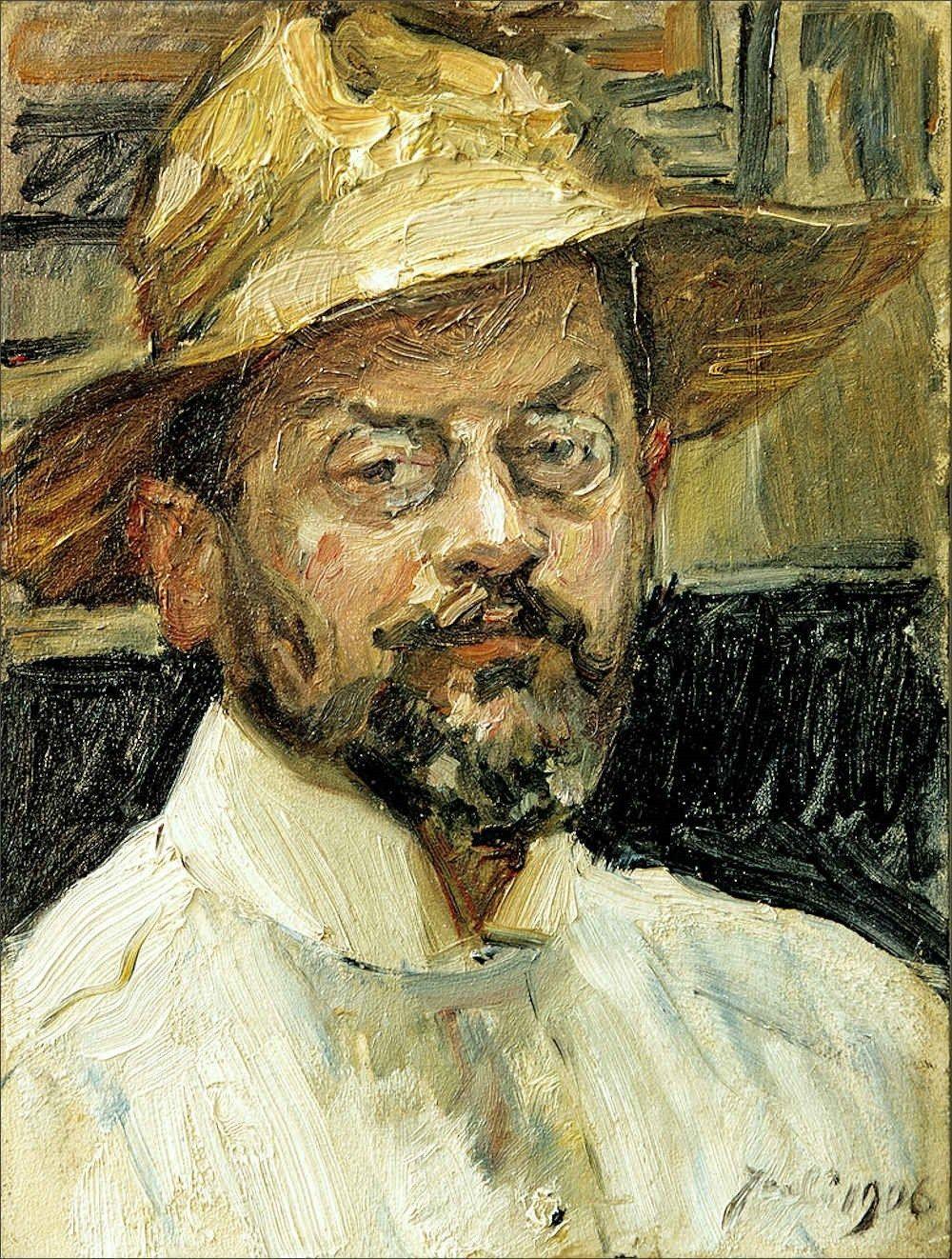 Max Slevogt · Autoritratto · 1906 · Ubicazione ignota