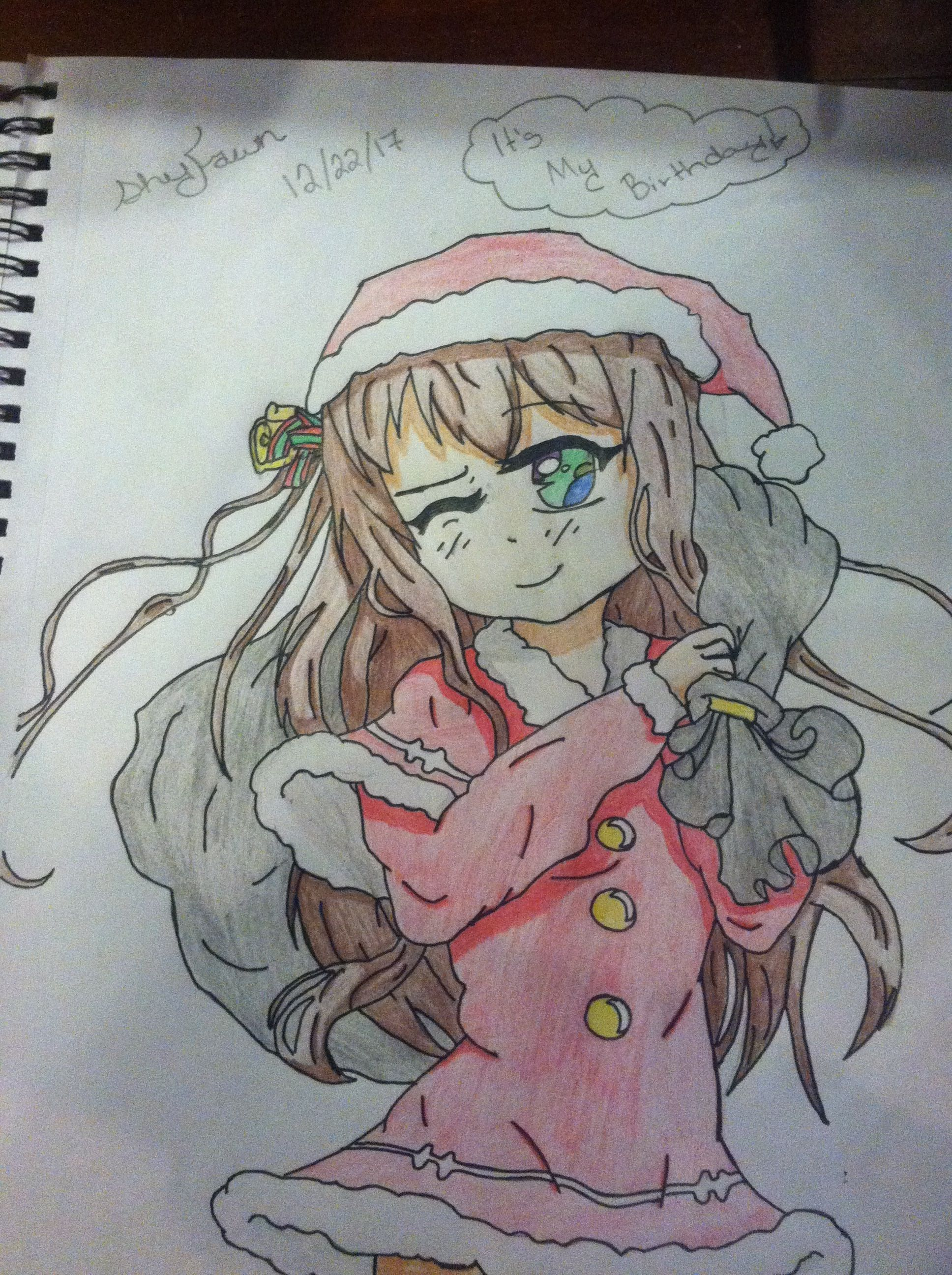 Merry Christmas Every One Love Y All Trin My Drawings Drawings Anime