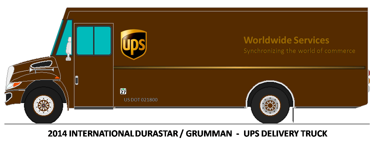 small resolution of ups truck clipart
