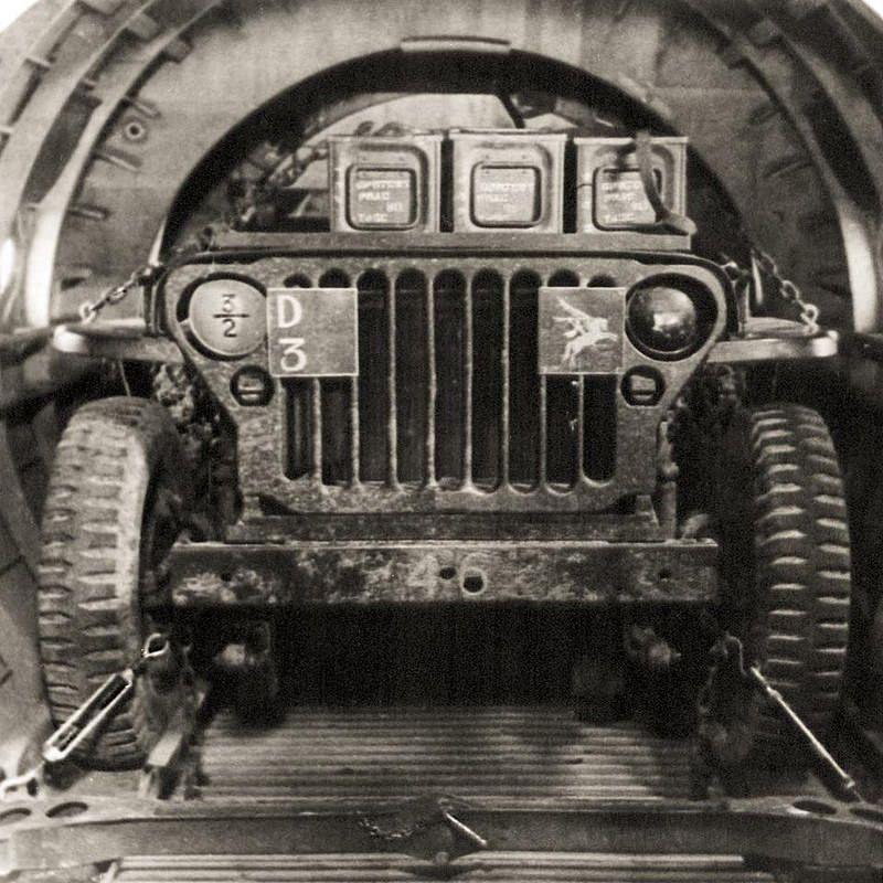 Airborne Artillery Jeep In Horsa Glider Woii Arnhem Tweede