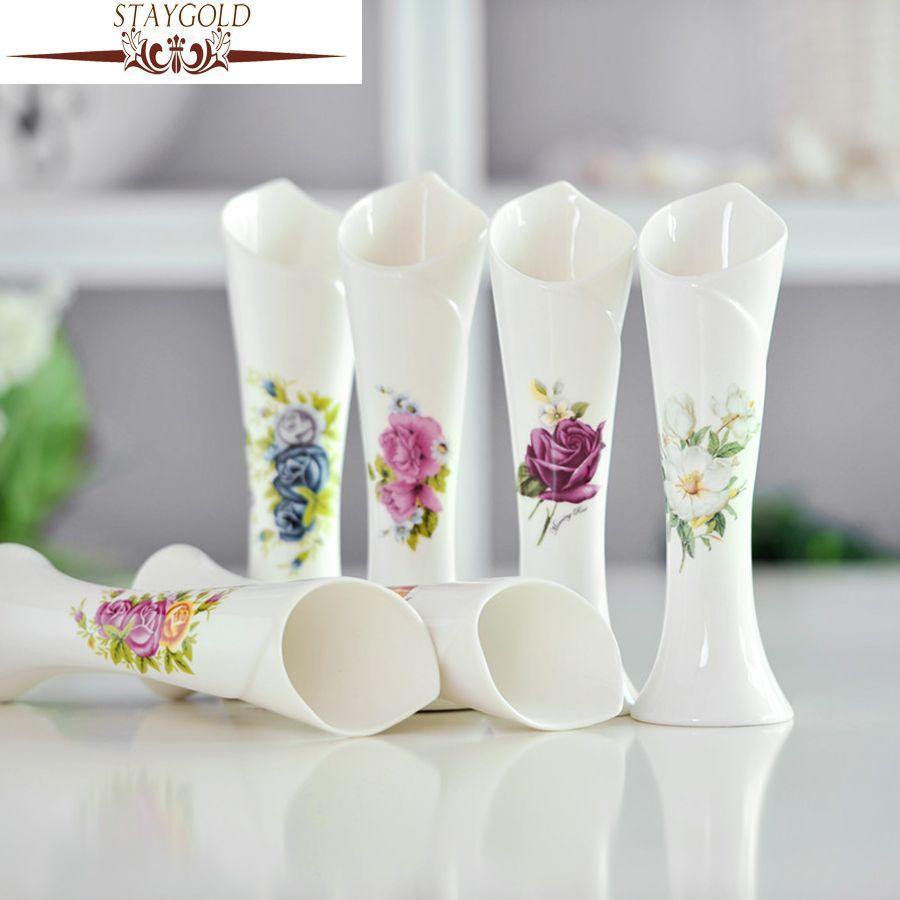 STAYGOLD Contemporary Fashion Exquisite Flower Holder Ceramic Vase ...
