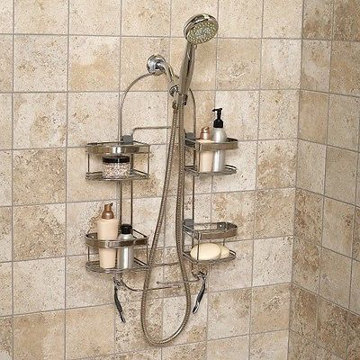 Premium Stainless Steel Bath Shelf Expandable Soap Shampoo Holder Shower  Caddy