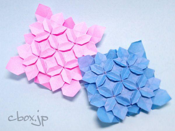 クリスマス 折り紙 折り紙 あじさい 作り方 : jp.pinterest.com
