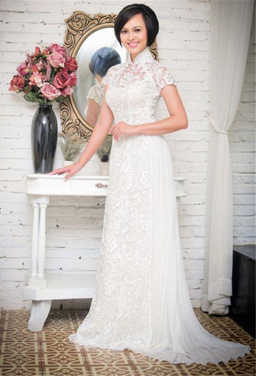 Ao dai inspired dress. Too elaborate, but very beautiful. Don\'t ...
