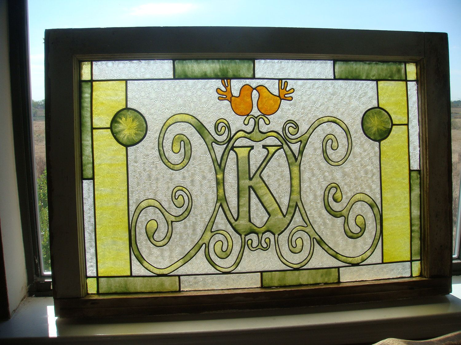 Faux Stained Glass Monogram (Custom). via Etsy. | Stained ... - photo#13