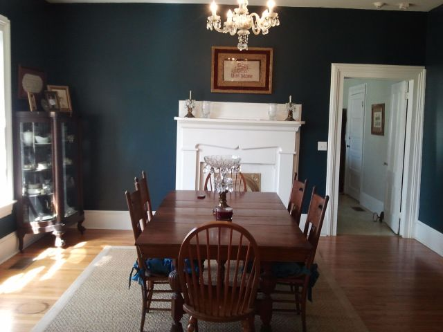 This Paint Shade Is In The Sherwin Williams Exterior Details Vivid Colors Line I Saw A Very Similar Color Dining Room Of Historic Home