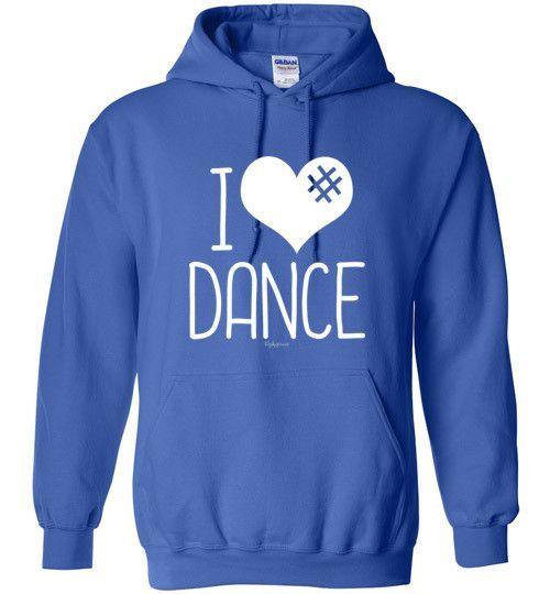 971592043 Golly Girls: I Hashtag Heart Dance Gildan Heavy Blend Hoodie (Youth & Adult  Sizes)
