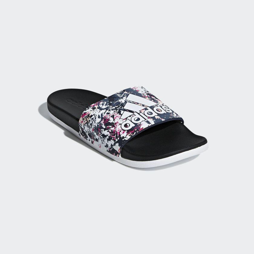 adidas Adilette Comfort Slides - White | adidas US | Womens ...