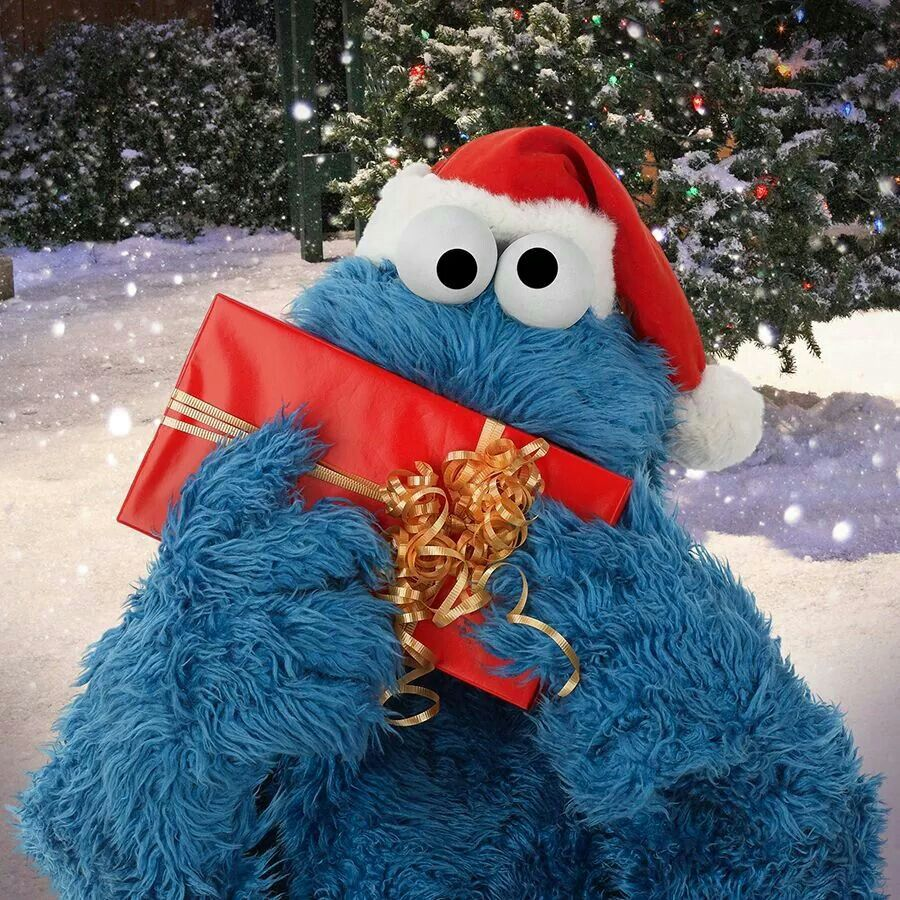 1000 Images About December Muppets Christmas On Pinterest: Merry Christmas! Love, Cookie Monster