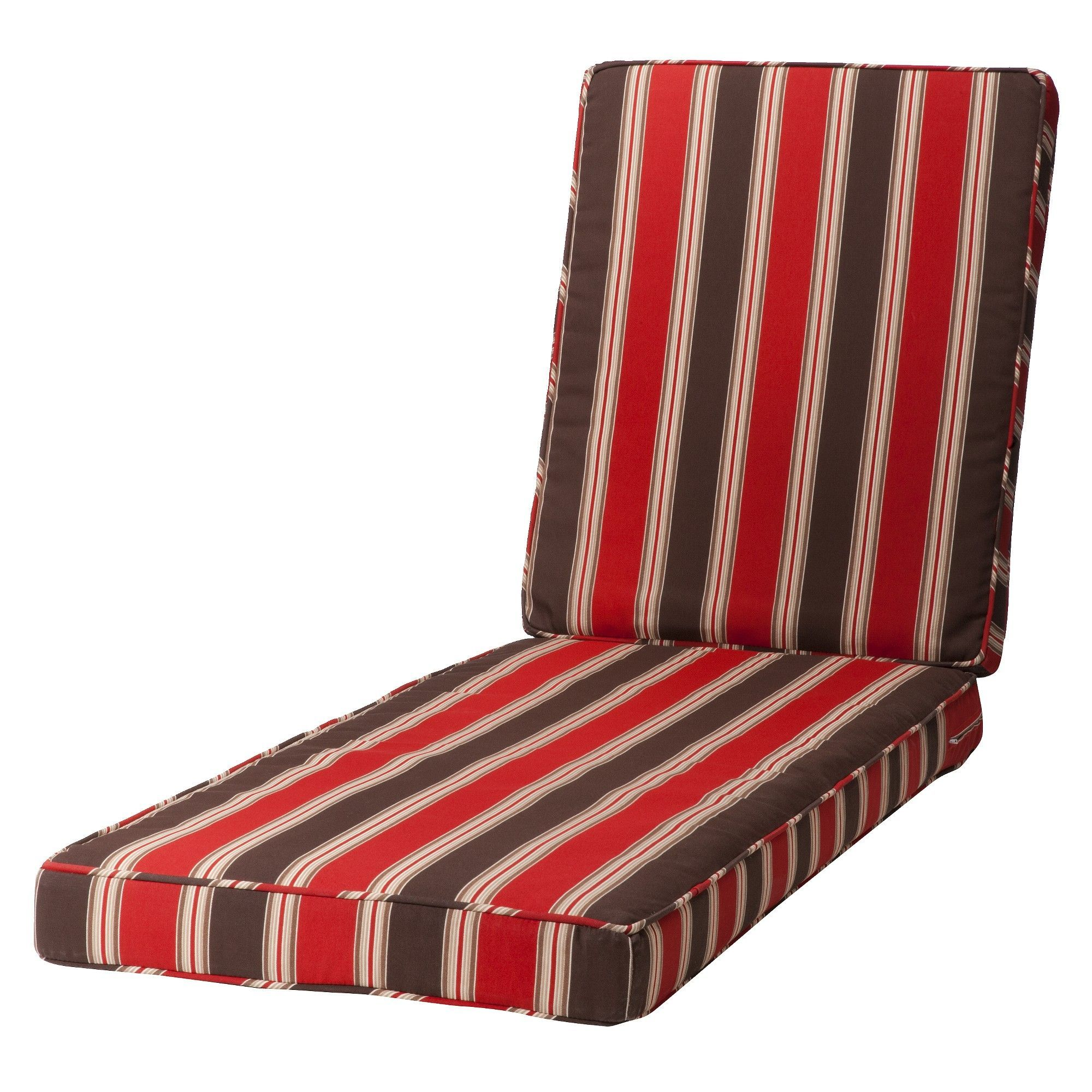 Rolston Outdoor Chaise Lounge Replacement Cushion Red