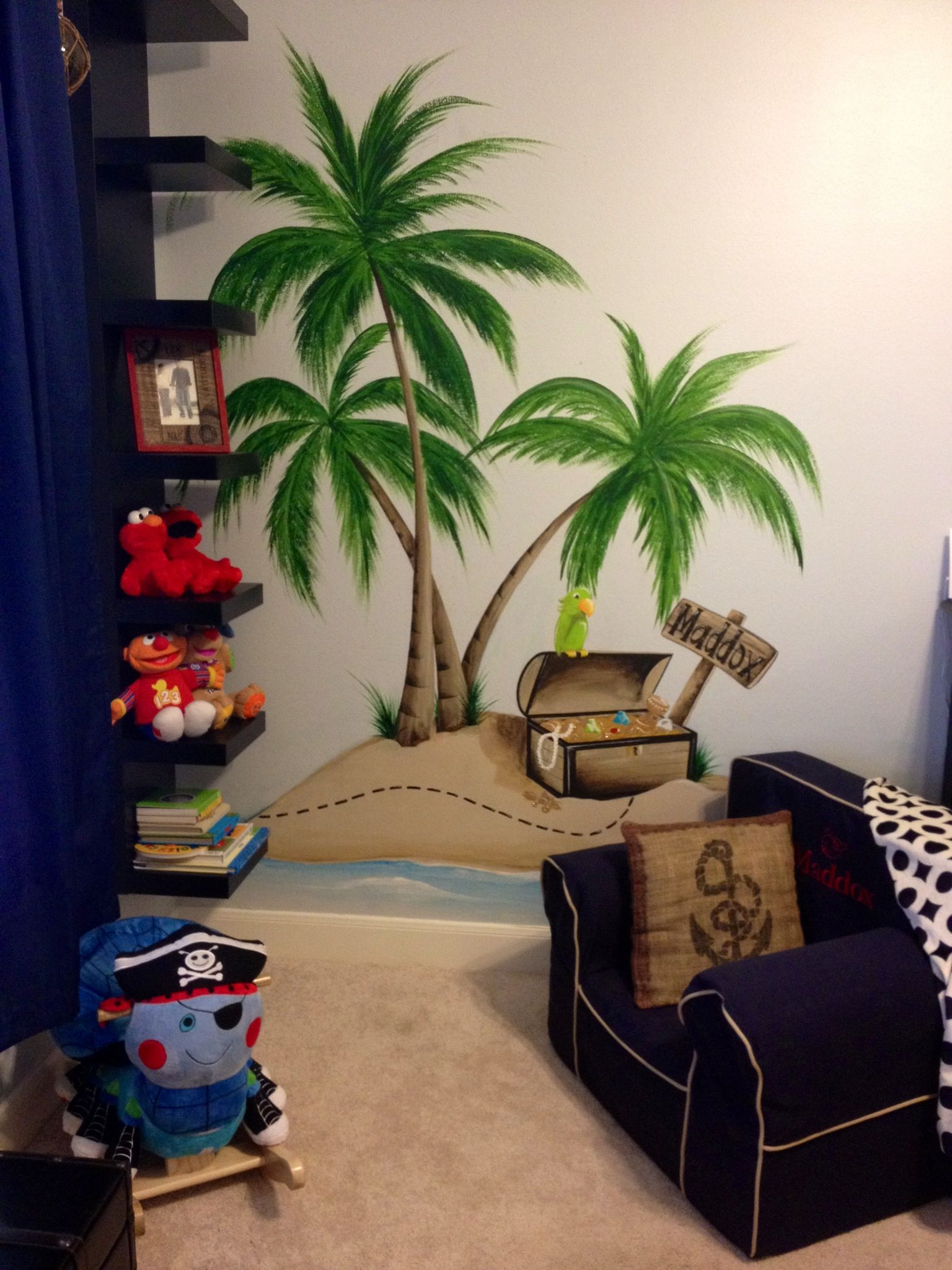 Pirate Themed Bedroom Furniture Wwwmuralsbywhitneycom Painted An Incredible Pirate Themed Mural
