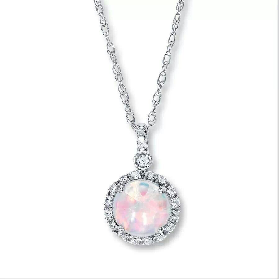 Opal necklace from jareds so pretty Jewelry Pinterest Opal