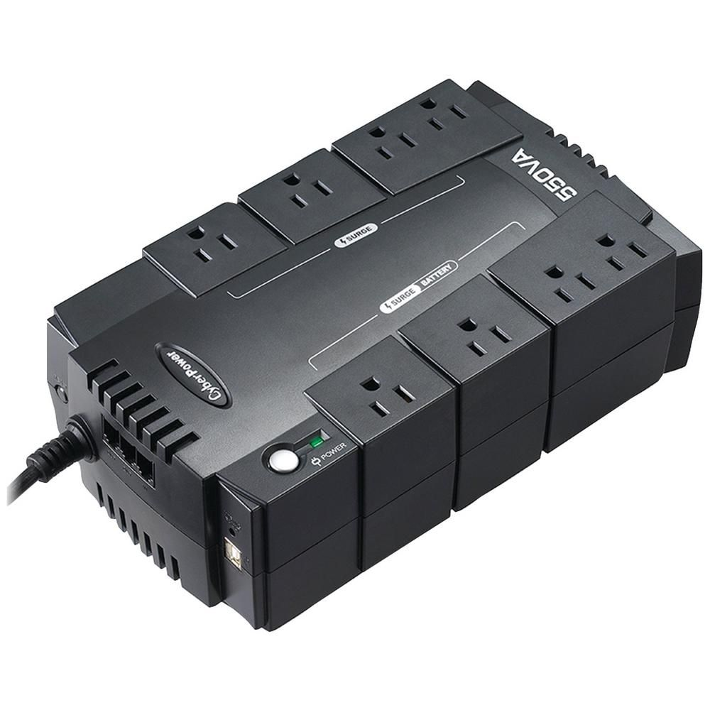 Cyberpower 8 Outlet Standby Ups System Cp550slg Ups System Cool Things To Buy Power Interruption
