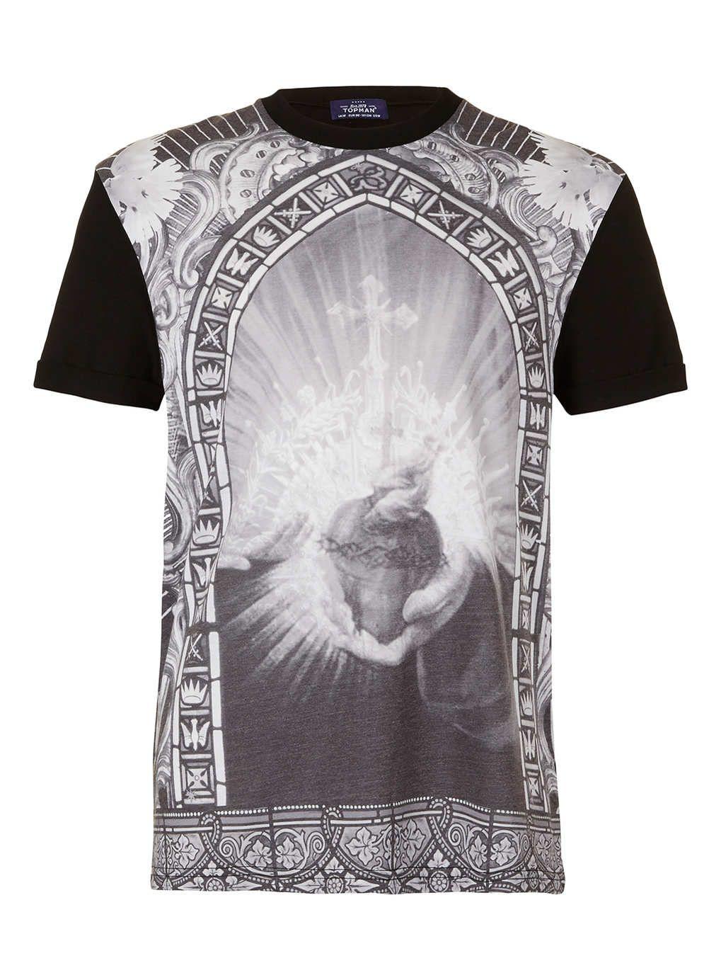 Sacred Heart Tshirt - Mexican Sacred Heart Tshirt - Unisex Printed T-shirt - Gray Tshirt - Cliche Zero yFeqj9U9b