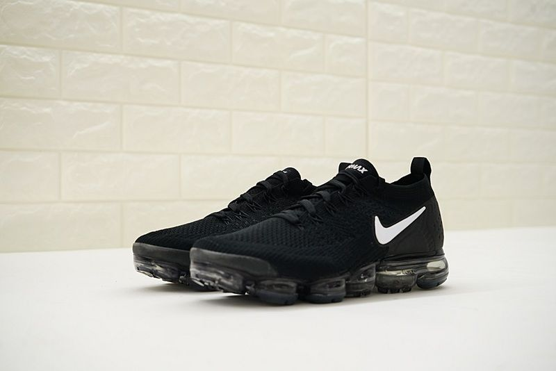 26f86b944b2 Nike Air VaporMax Flyknit 2.0 Running Shoes Black White-Dark Grey 942842-001