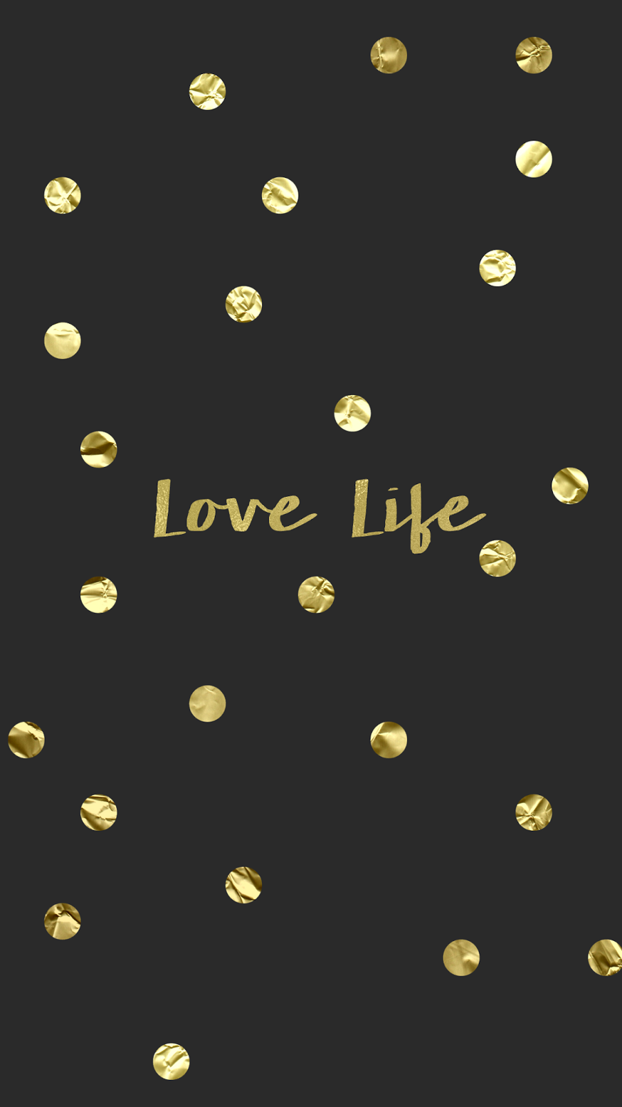 Wallpaper Background Hd Iphone Gold Confetti Black Love Life