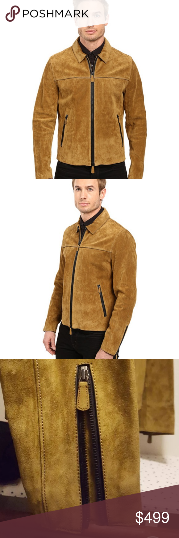 Brand New Coach York Suede Leather Jacket 100 leather