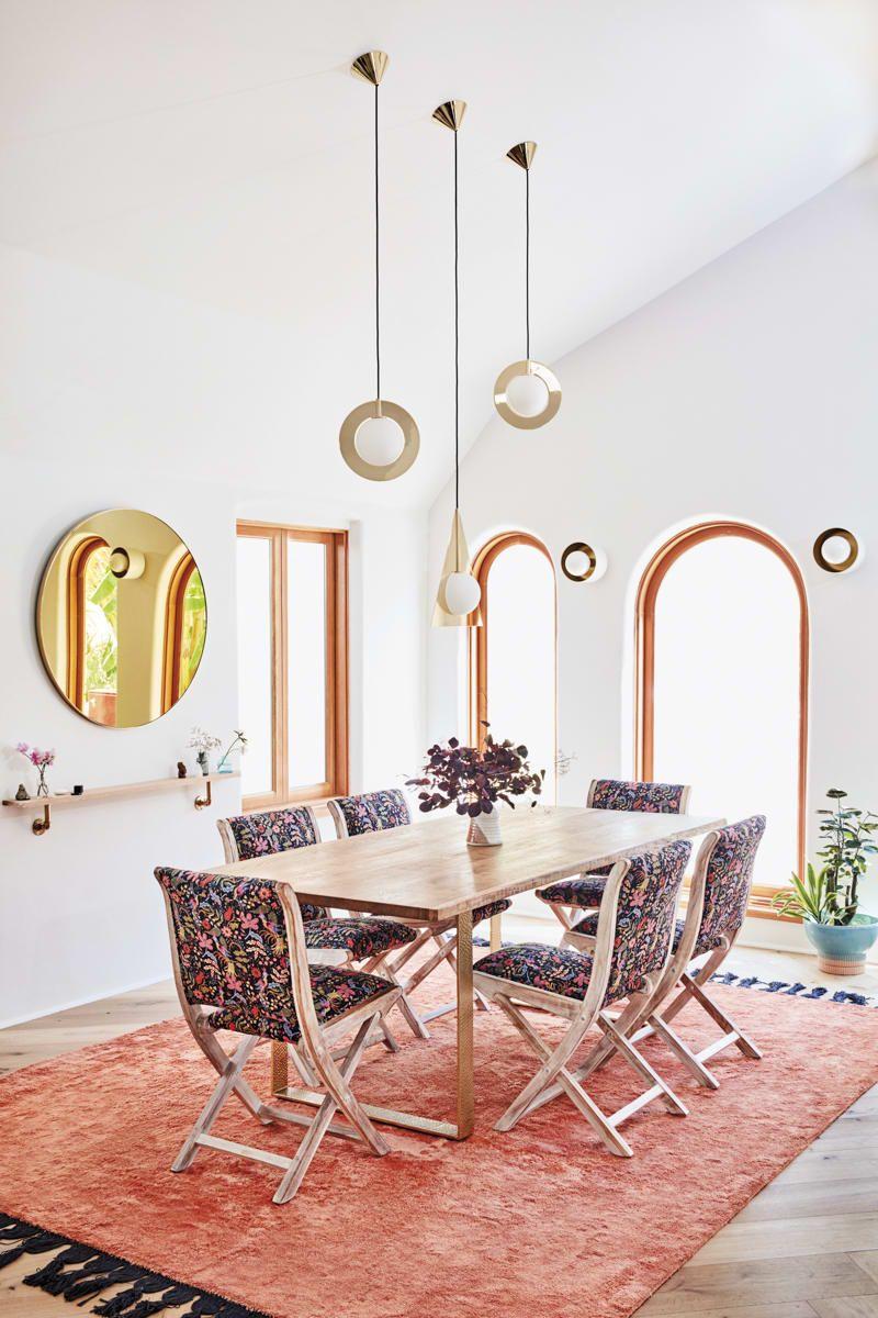 Lourdes Hernandez Colorful Modern Los Angeles Home Tour Minimalist Dining Room Natural Home Decor Anthropologie Dining Room