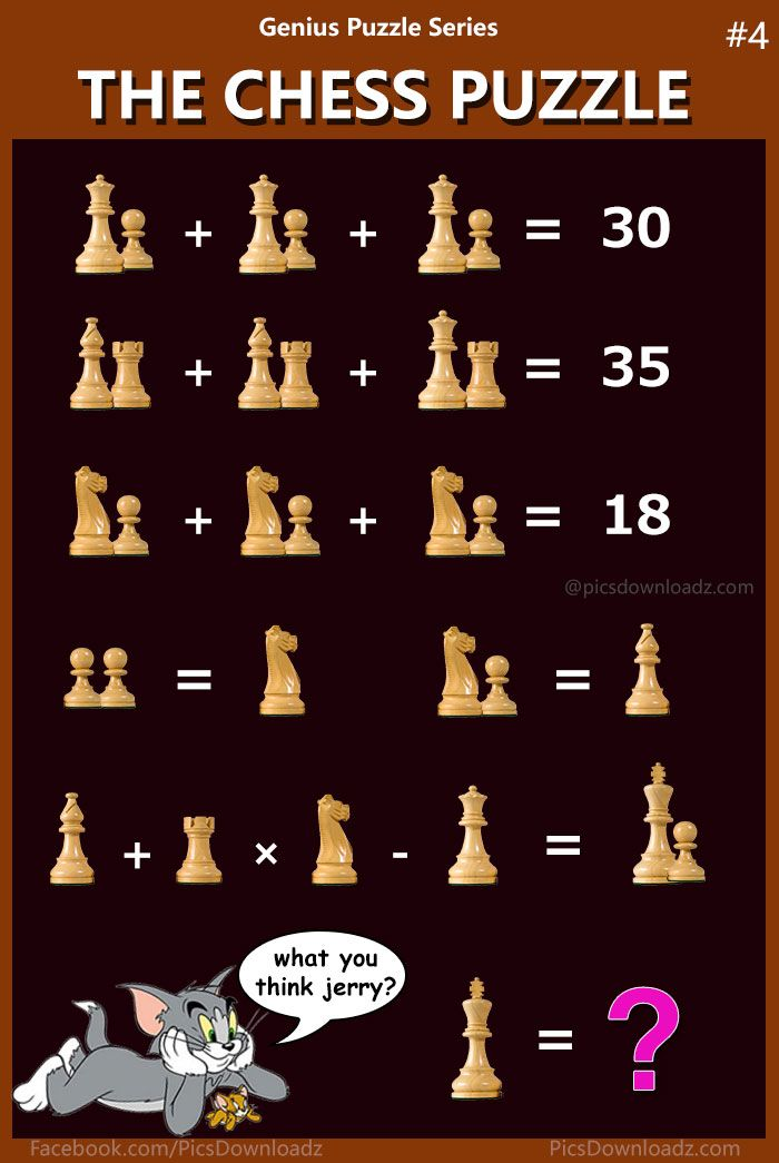 The Chess Puzzle, Find the Value of KING – Brainteaser Math Puzzle ...