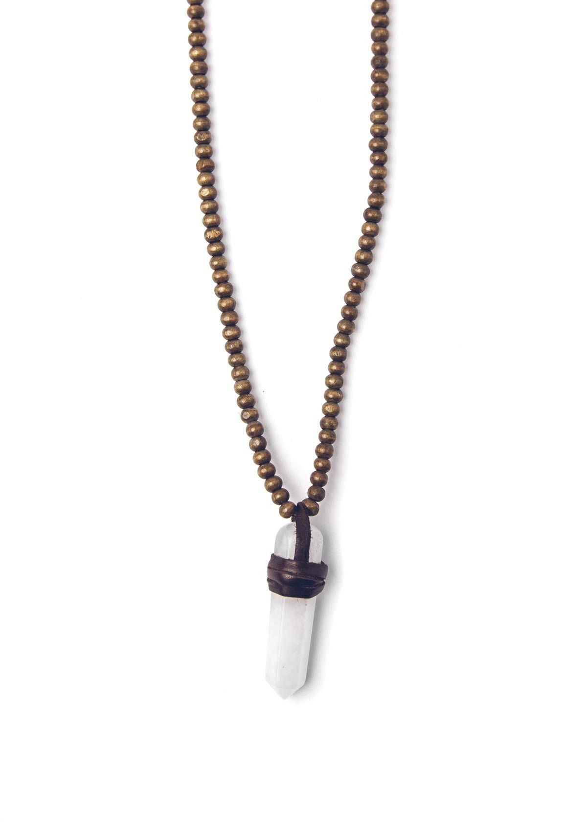 Foxy Lady Necklace | Quartz Crystal Pendant Necklace | Bohemian Jewelry by SoulMakes #jewelry #necklace #soulmakes