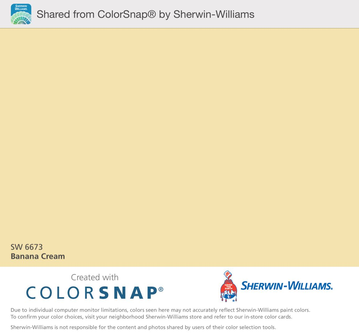 Banana Cream by Sherwin Williams-to paint inside kitchen ... on cvs locations, directbuy locations, john deere landscapes locations, fastsigns locations, forman mills locations, at&t locations, pepsico locations, meadwestvaco locations, benjamin moore locations, smithfield foods locations, dr pepper snapple locations, ohiohealth locations, simplexgrinnell locations, chevron locations, citi trends locations, cash america pawn locations, plains all american pipeline locations, enterprise rent-a-car locations, monsanto locations, sportsman's warehouse locations,
