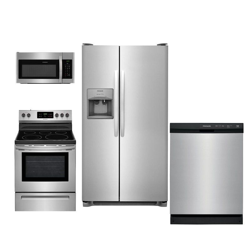 Frigidaire 4 Piece Electric Kitchen Appliance Package With