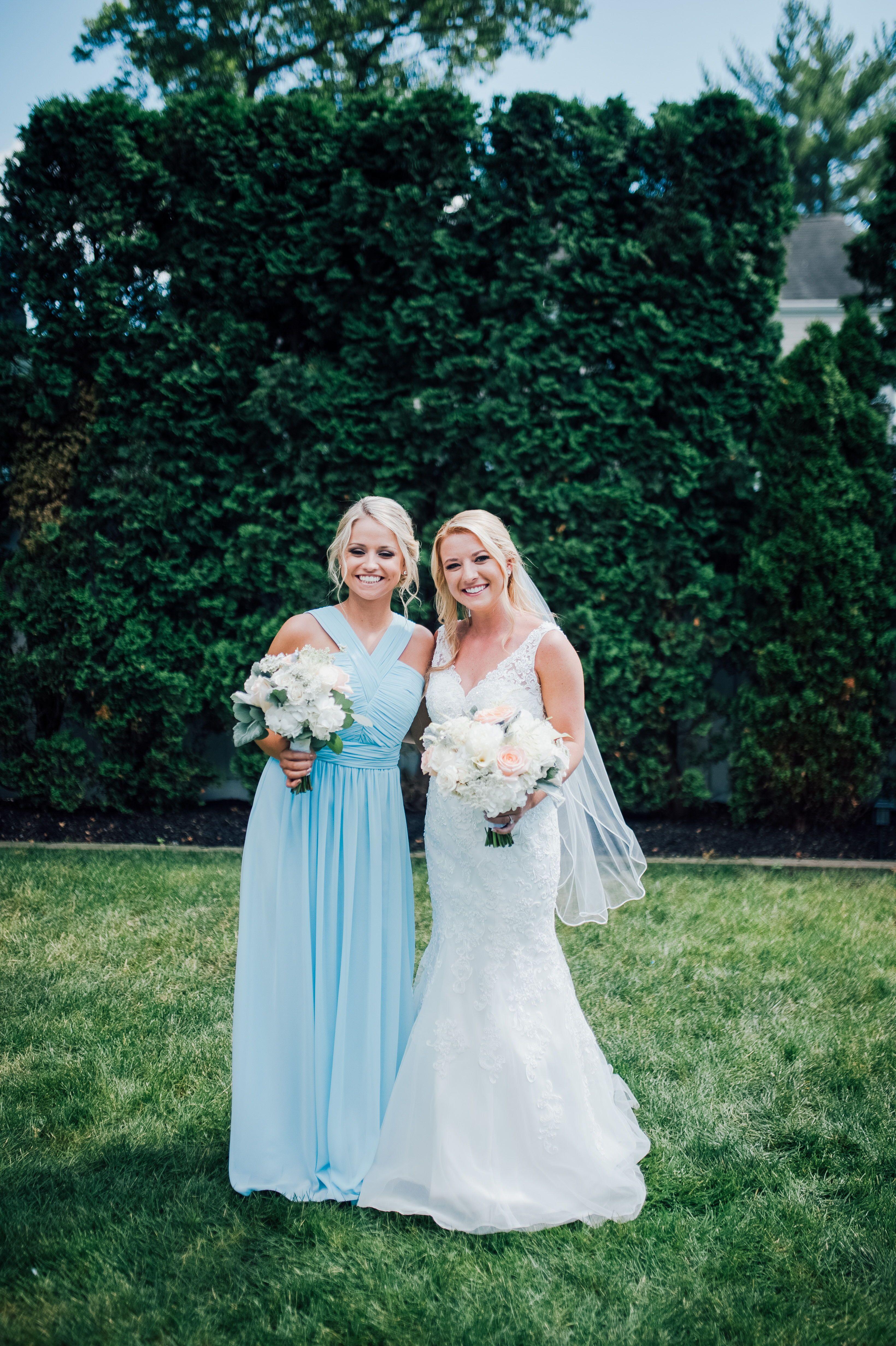Spring Wedding Ideas Blue Bridesmaids Dresses Spring
