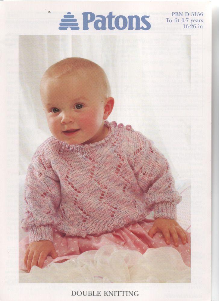 PATONS baby DK lacyknit sweater KNITTING PATTERN | Sweater ...