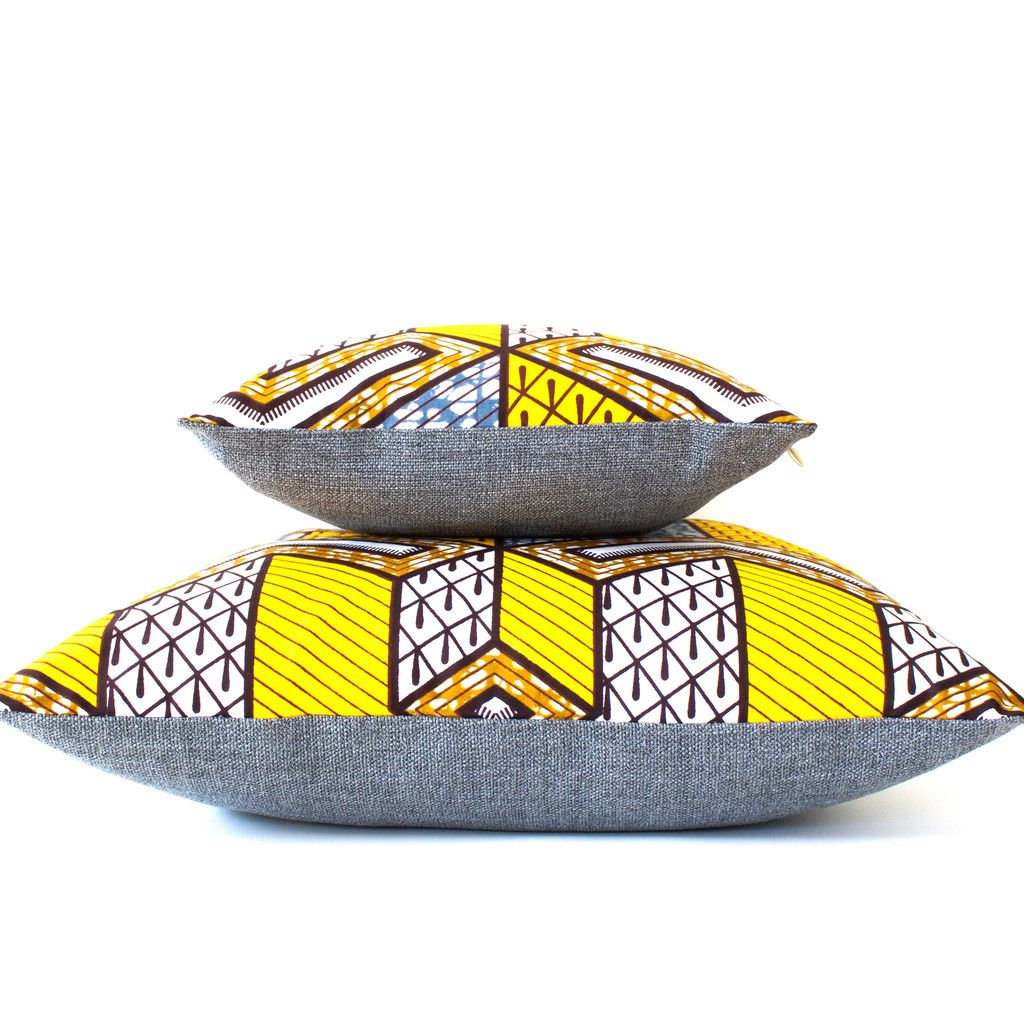 African Home Decor By 3rd Culture: African Wax Print Throw Pillows