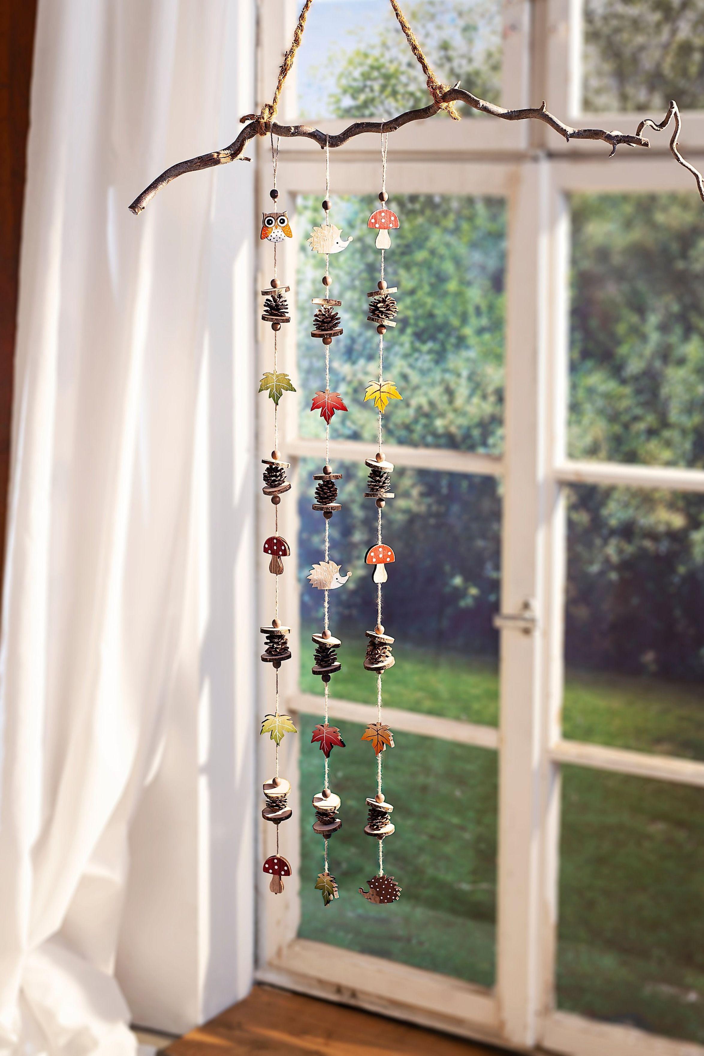 Dekogirlanden Herbstfreunde #herbstfensterdekokinder