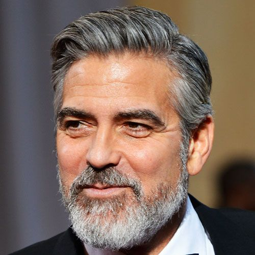 The Best George Clooney Haircuts Hairstyles 2020 Update Grey Hair Men New Beard Style Stylish Men Over 50