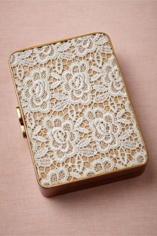 Pretty things / Acacia lace clutch from BHLDN
